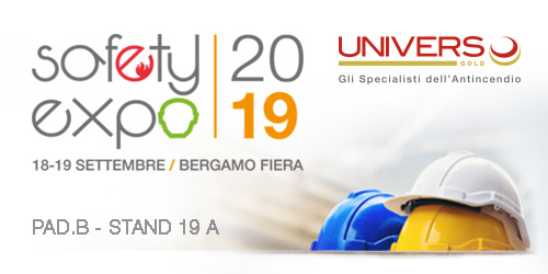 Safety Expo 2019: Universo Gold tra i protagonisti